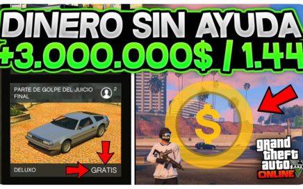 *INCREÍBLE* GANA +3.000.000$ SIN AYUDA MUY FÁCIL! GTA 5 ONLINE  1.44 DINERO SIN AYUDA