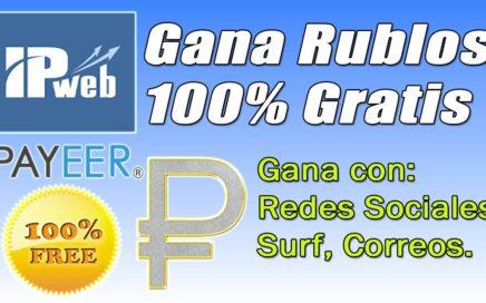 IPweb Tutorial | Gana Rublos Gratis con Redes Sociales, Surf, Email pagados etc | Gokustian
