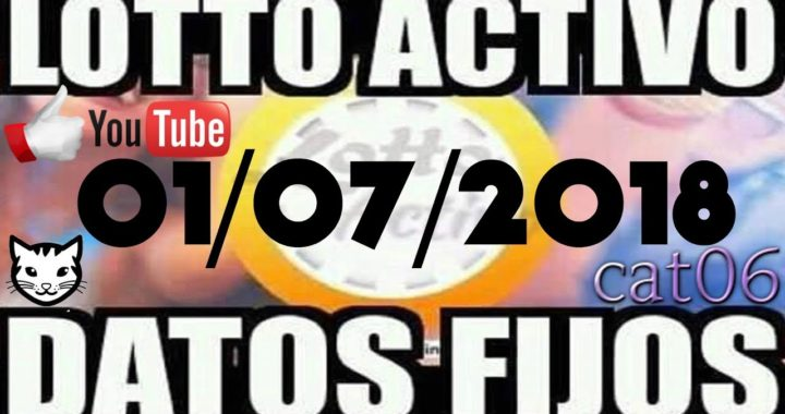 LOTTO ACTIVO DATOS FIJOS PARA GANAR  01/07/2018 cat06