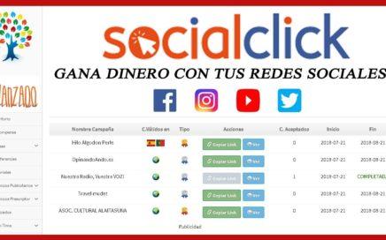 Mudet | Nueva Tarea Socialclick  Atrapaclick - Gana Dinero Con Tus Redes Sociales