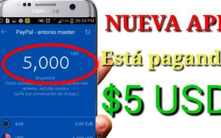 NUEVA APP ESTA pagando $ 5 USD/100 % REAL 2018