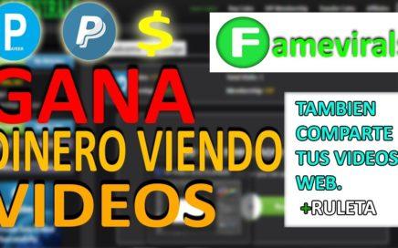 [ NUEVA PÁGINA ] Famevirals - Gana Dinero Viendo Vídeos y Jugando  *Paga por Dólares o Rublo