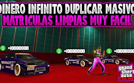 NUEVO! DINERO INFINITO DUPLICAR AUTOS DE LUJO MASIVAMENTE MATRICULAS LIMPIAS GTA 5 ONLINE 1.43