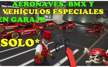 NUEVO TRUCO GTA 5 ON LINE *SOLO* 1.44 COMO METER AERONAVES, VHLS ESPECIALES Y BMX EN GARAJE.