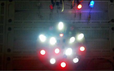 Oscilador o luz intermitente con transistores