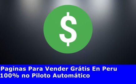Paginas Para Vender Grátis En Peru