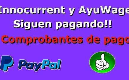 Pago de Innocurrent y ayuwage Recibido por Paypal 