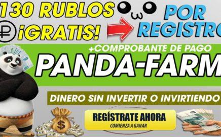 Panda-FARM| 130 RUBLOS GRATIS al REGISTRARTE|GANA DINERO REAL + PRUEBA DE PAGO| 2018