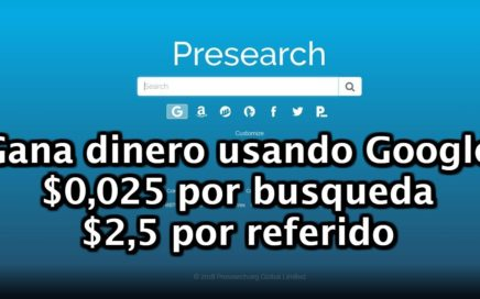 Presearch | Como ganar dinero facil con Google