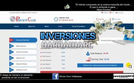 Private Club #1 Creando Inversión - 7 Julio 2018 Invierte Y Gana Dinero Por Internet
