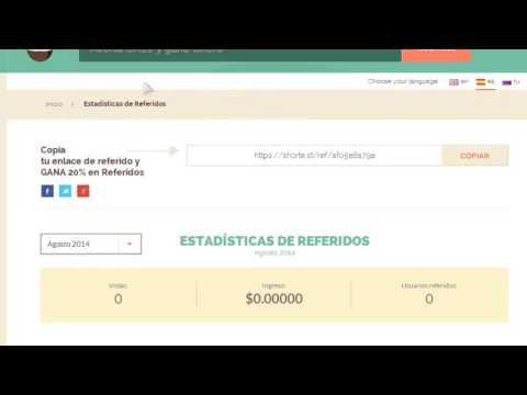 Shorte st me Paga $20  Ganar Dinero Acortando Enlaces o Links con Shorte st  2017