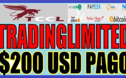 TRADINGLIMITED TCCL RETIRO DE $200 USD + INVERSIÓN DE $800 USD  PLAN DE %5 AL DIA