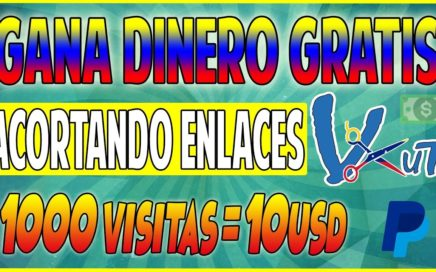 VCUT | ¡EL ACORTADOR QUE MAS PAGA PARA VENEZUELA 10$ CADA MIL VISITAS Y OTROS PAISES JULIO 2018!