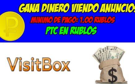 VISIT-BOX - GANA DINERO VIENDO ANUNCIOS PTC EN RUBLOS (MÍNIMO RETIRO 1.00 RUBLO)