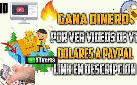 YTVERTS | Como Ganar dinero en internet por solo ver videos | Tu pc trabaja por ti
