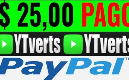 YTVERTS - GANA DINERO VIENDO VIDEOS - ESTRATEGIA + PRUEBA DE PAGO $25.00