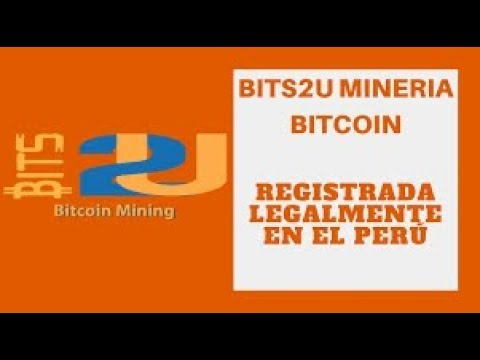 Bits2U 2018 Minería en la Nube Legal y Registrada Cobrando 10 DOLARES al DIA