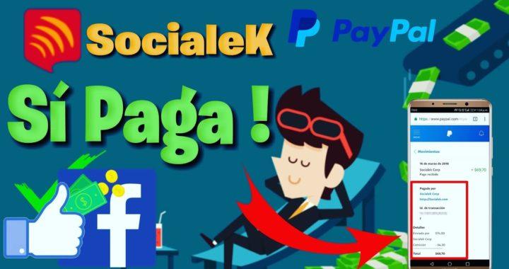 COBRANDO Dinero ganado con SOCIALEK / GANAR DINERO CON FACEBOOK