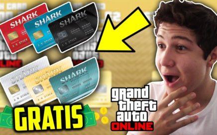 COMO CONSEGUIR SHARK CARDS GRATIS EN GTA V ONLINE!! Dinero Grand Theft Auto 5 Tarjetas Tiburón