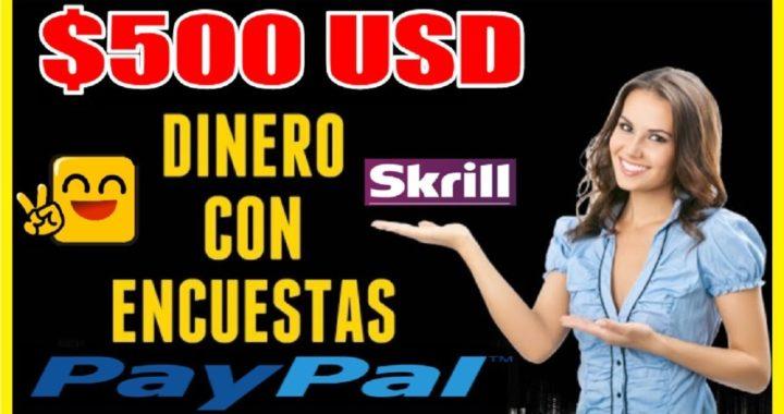 # CÓMO GANAR  $500 DOLARES GRATIS A PAYPAL & SKRILL SIN INVERTIR CON ENCUESTAS # SORTEO 250 RUBLOS