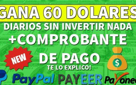 COMO GANAR 60 DOLARES DIARIOS + TRUCO AGOSTO 2018 (CON COMPROBANTE DE PAGO) (NUEVO METODO)