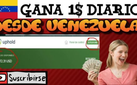 COMO GANAR DE 0,50$ A 1$ DIARIO EN VENEZUELA (PRUEBA DE PAGO )