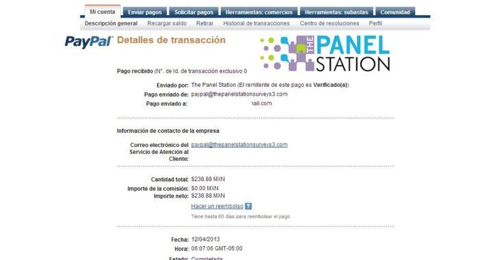 Como Ganar Dinero en internet con The Panel Station + prueba de Pago (Paypal)