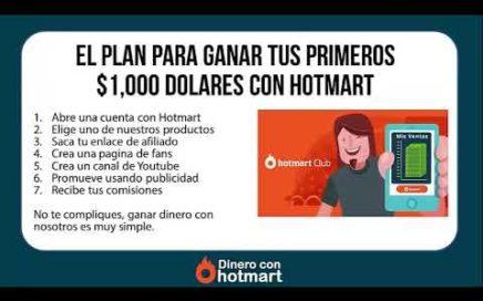 COMO GANAR DINERO  por internet 2018 - $1,000 DOLARES CON HOTMART