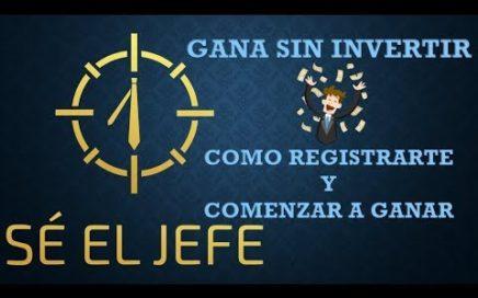 COMO GANAR DINERO POR INTERNET (REGISTRARTE EN SÉ EL JEFE Y REALIZAR EL ENTRENAMIENTO)