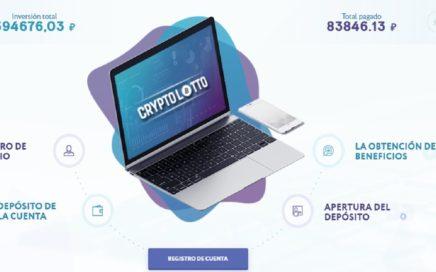 CRYPTOLOTO HYIP NUEVA PÁGINA PAGANDO $50 USD - 120% en 1 DIA