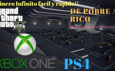 Dinero infinito *Solo Sin ayuda* Duplicar autos Facil  GTA 5 online 100% funcionando xbox one ps4