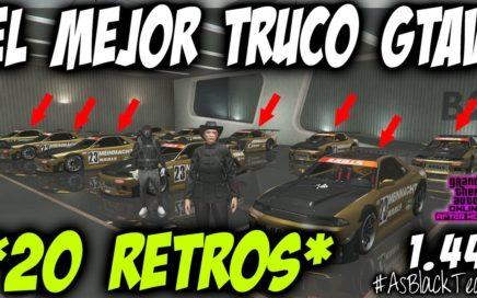 DUPLICAR MASIVO 20 ELEGYS RETRO - EL MEJOR TRUCO DE GTAV 1.44 - PLACAS LIMPIAS - (PS4 - XBOX One)