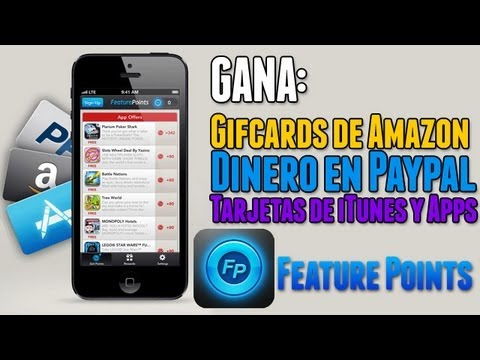 Feature Points | Gana dinero en Amazon, Paypal, Tarjetas de iTunes y Apps