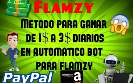 FLAMZY BOT - DE 1$ A 3$ DOLARES DIARIOS EN AUTOMATICO - APROVECHA