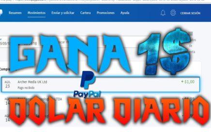 GANA 1 DOLAR DIARIO POR PAYPAL 2018 LA MEJOR PAGINA - (COMPROBANTE DE PAGO)