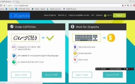 Gana Dinero Facil y Rapido desde tu Casa CON 2CAPTCHA| Metodo 100% Efectivo| 1000 Captchas=20$