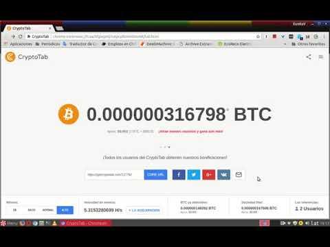 Gana dinero rapido y facil gana 0.5 btc , gana 200 dolares mensuale. (cryptotab minero)