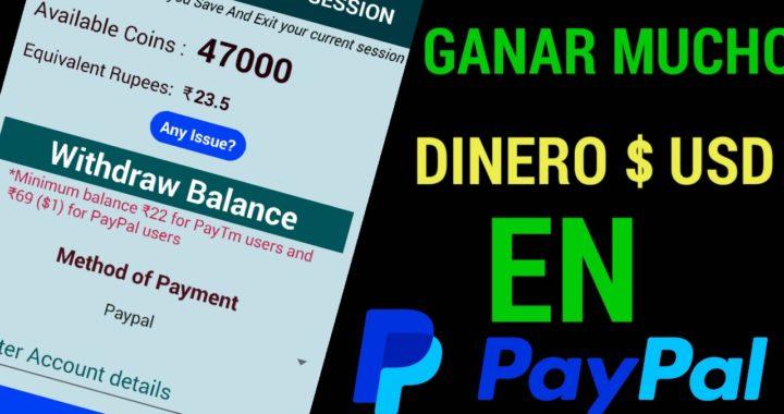 GANA MUCHO DINERO CON ESTA APP EN paypal 2018