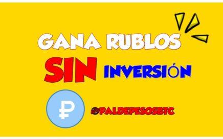 GANA MUCHOS RUBLOS SIN INVERSIÓN
