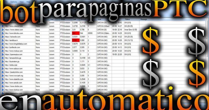 GANA $ PROGRAMA PARA VER ANUNCIOS DE PAGINAS PTC EN AUTOMATICO + 50 PAGINAS PTC +PRUEBAS DE PAGO BOT