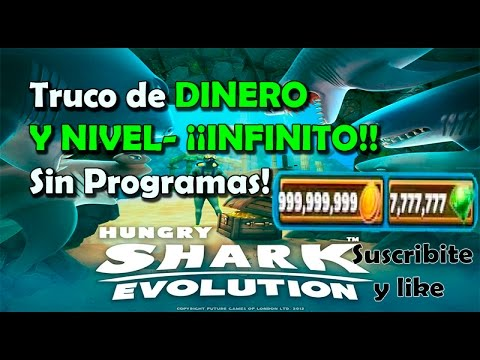 Hungry shark evolution truco de dinero y nivel(no hack) FUNCIONAA 2018