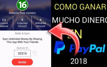 INCREÍBLES APP para ganar dinero en paypal 2018