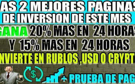 LAS 2 MEJORES PAGINAS DE INVERSIÓN DE ESTE MES   + PRUEBA DE PAGO EN VIVO - INVIERTO 500 RUBLOS