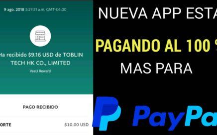 Nueva app esta pagando al 100 % más dinero para PayPal