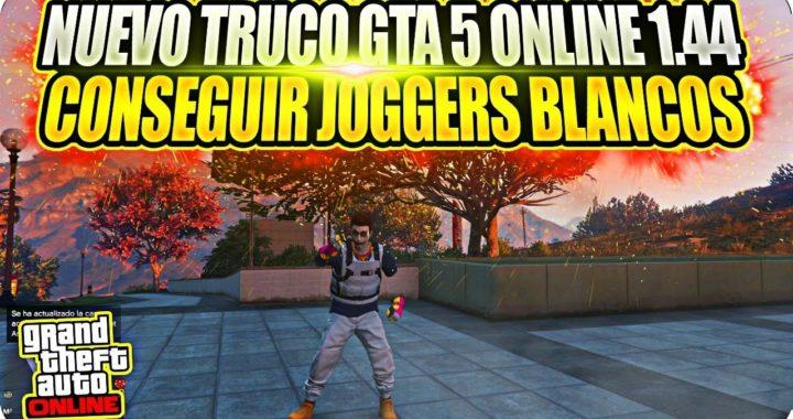 !NUEVO TRUCO GTA 5 ONLINE 1 44*CONSEGUIR JOGGERS BLANCOS SIN SAVE WIZARD*PS4!