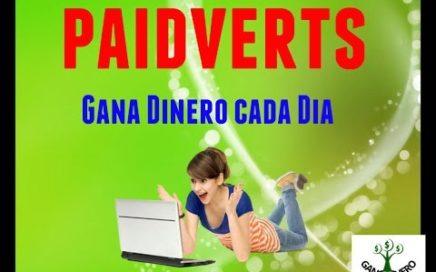 PAIDVERTS | Gana dinero cada día con publicidad (YA NO TRABAJO CON ESTA PÁGINA)