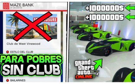 *PARA POBRES* SIN CLUB! DINERO INFINITO +1.000.000$ (GTA 5 ONLINE TRUCO 1.44) FÁCIL Y RÁPIDO!