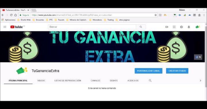 Presentación del canal Tu Ganancia Extra