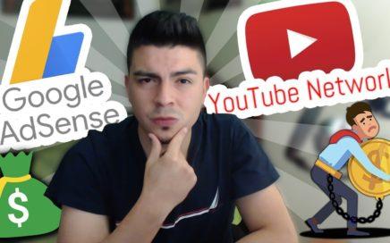 Que es mejor: ¿ ADSENSE o NETWORK ? Ganar dinero en Youtube - ACTUALIZADO