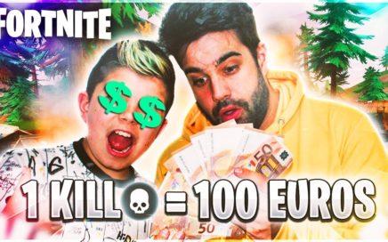RETO 100 EUROS POR KILL Y ARRUINO A TOBBAL EN FORTNITE!!! Solitario en PS4